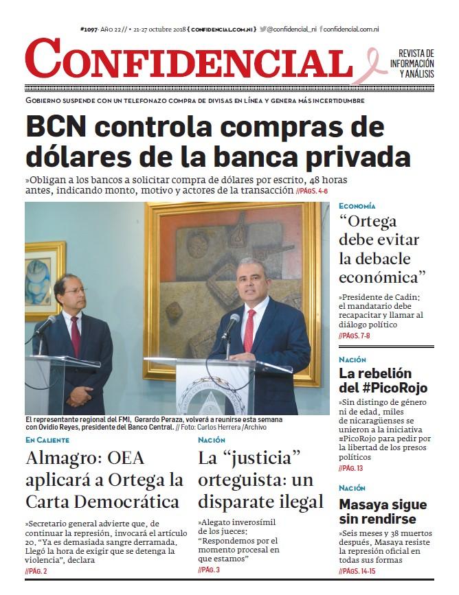 BCN controla compras de dólares de la banca privada