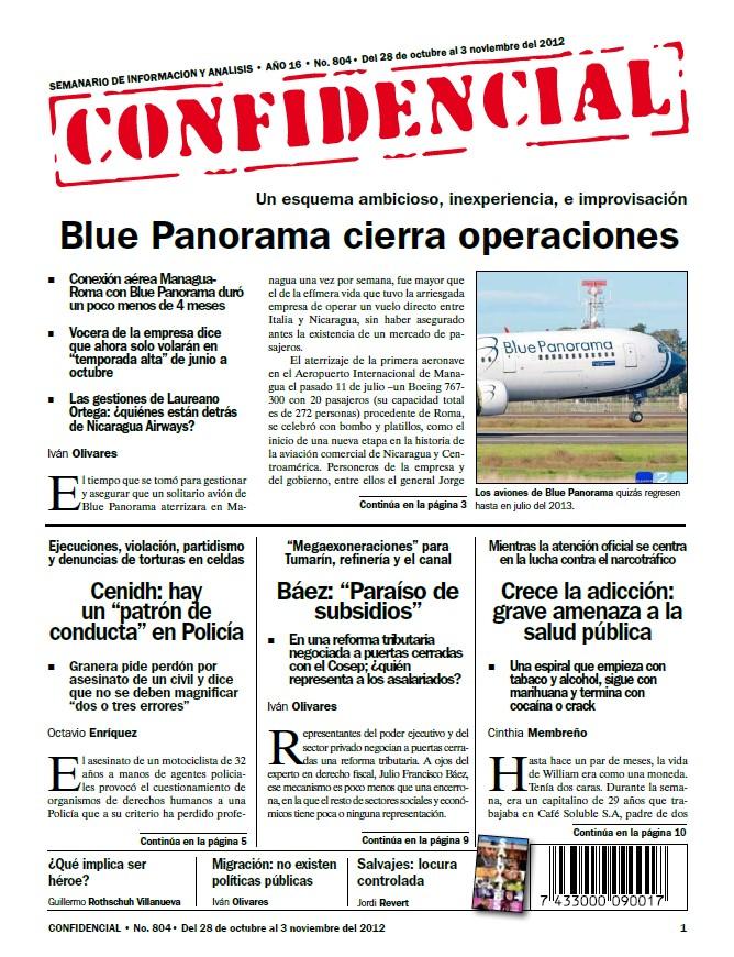 Blue Panorama cierra operaciones