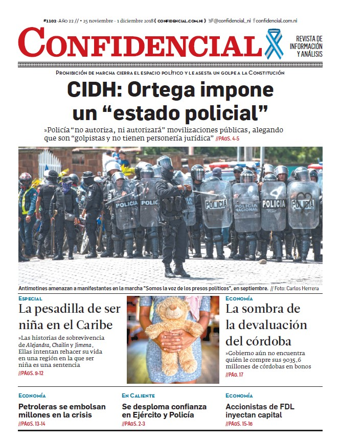 """CIDH: Ortega impone un """"estado policial"""""""