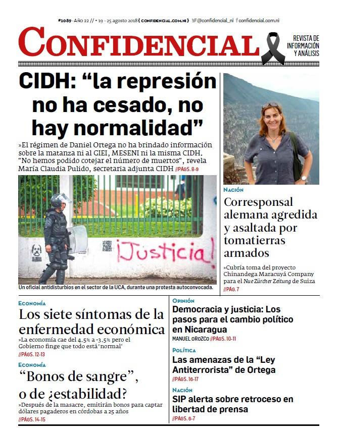 """CIDH: """"la represión no ha cesado, no hay normalidad"""""""