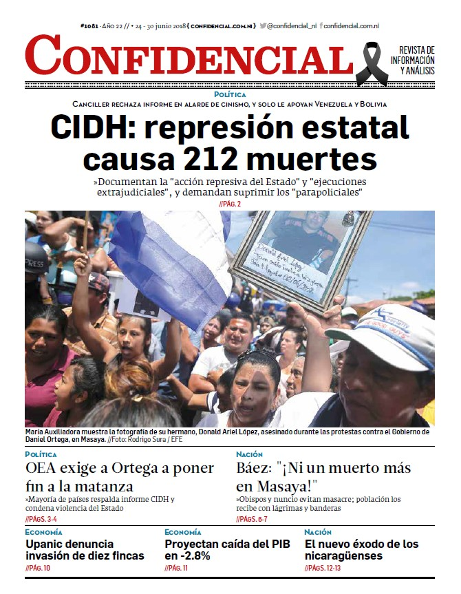 CIDH: represión estatal causa 212 muertes
