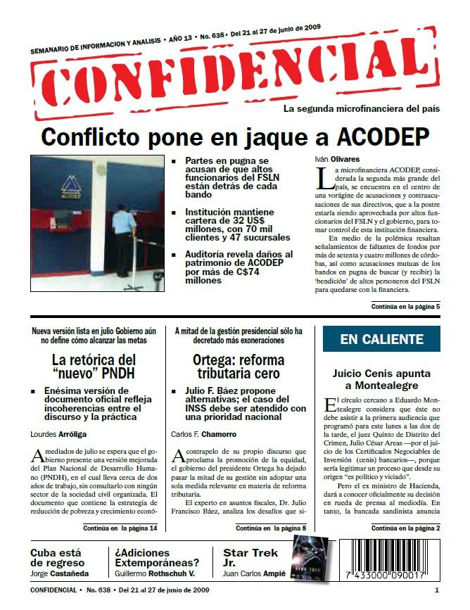 Conflicto pone en jaque a ACODEP