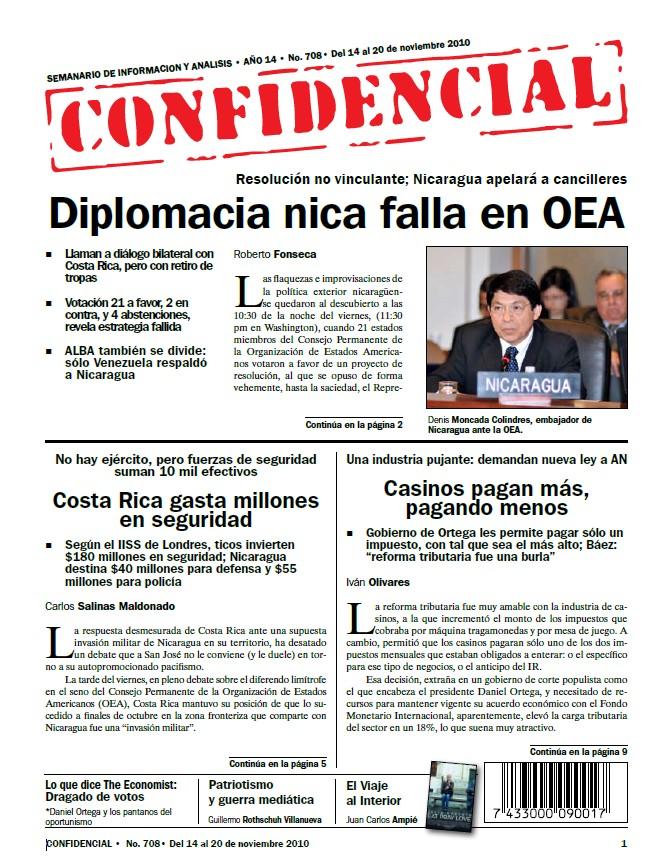 Diplomacia nica falla en OEA