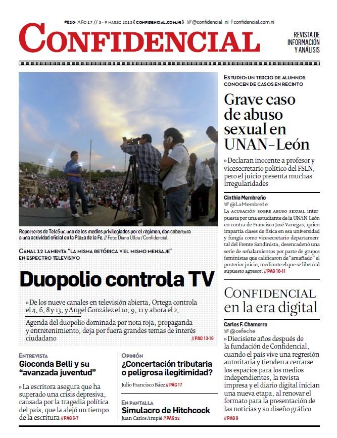 Duopolio controla TV