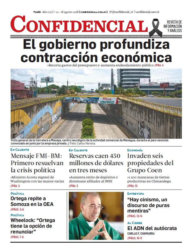 El gobierno profundiza contracción económica