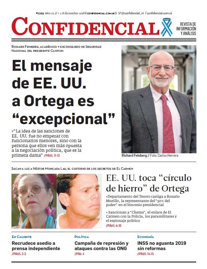 """El mensaje de EE. UU. a Ortega es """"excepcional"""""""