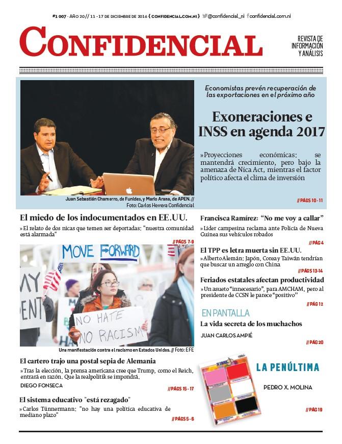 Exoneraciones e INSS en agenda 2017