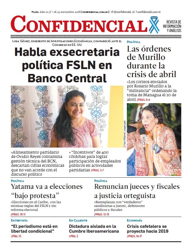 Habla exsecretaria política FSLN en Banco Central