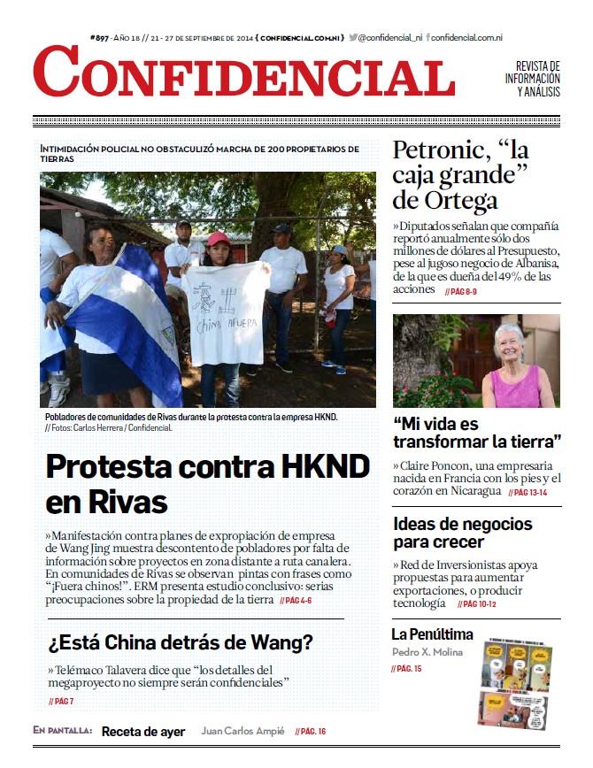 Protesta contra HKND en Rivas