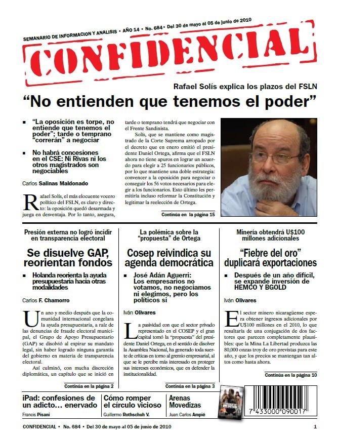 """Rafael Solís: """"No entienden que tenemos el poder"""""""