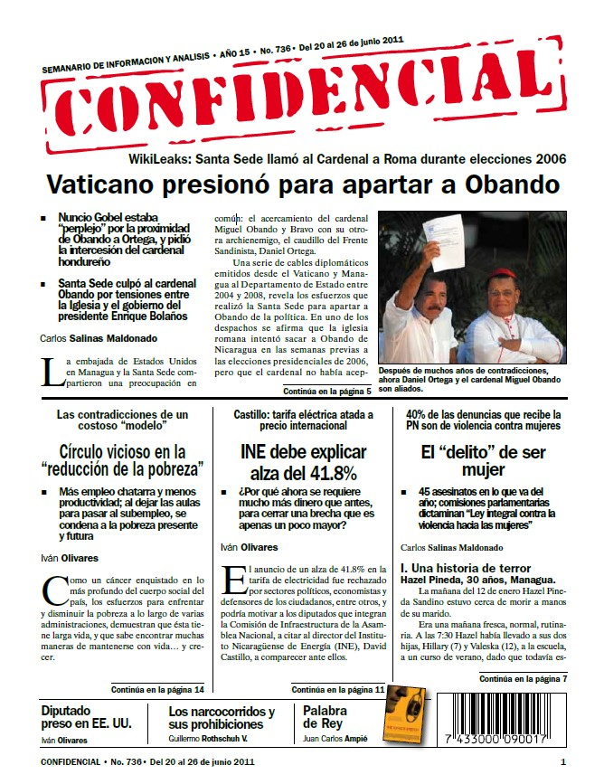 Vaticano presionó para apartar a Obando