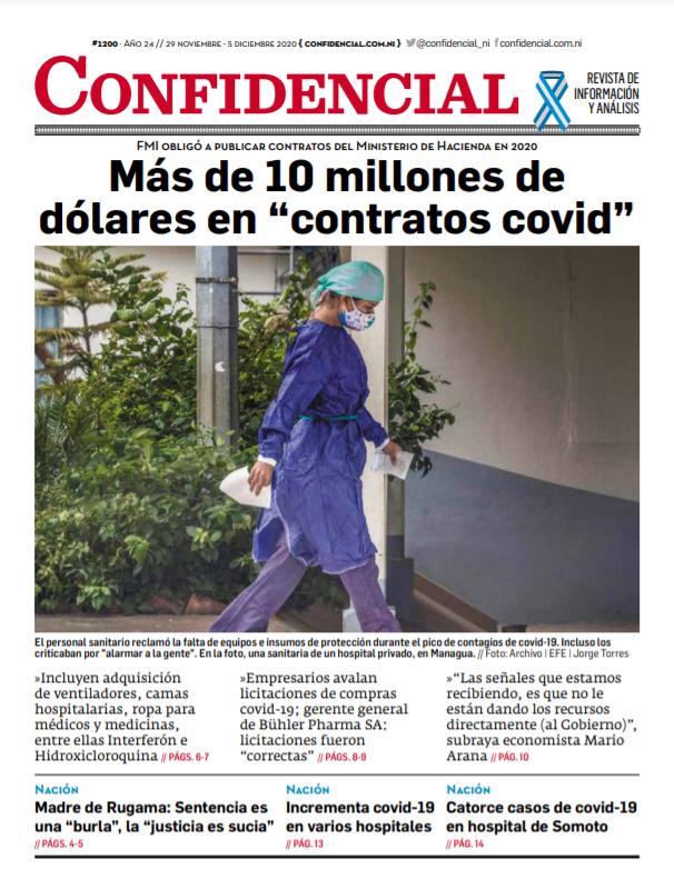 Más de 10 millones de dólares en «contratos covid»