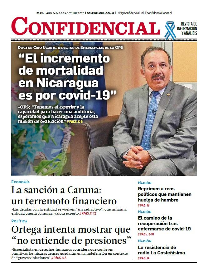 """""""El incremento de mortalidad en Nicaragua es por covid-19"""""""
