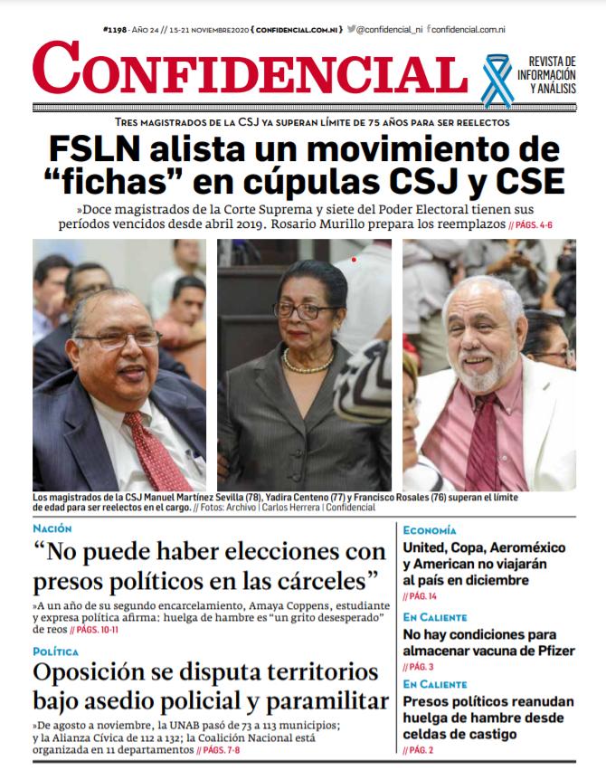 FSLN alista un movimiento de «fichas» en cúpulas CSJ y CSE