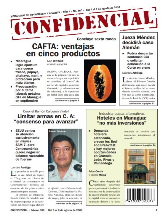 Nicaragua con ventaja en cinco productos, en negociaciones del CAFTA