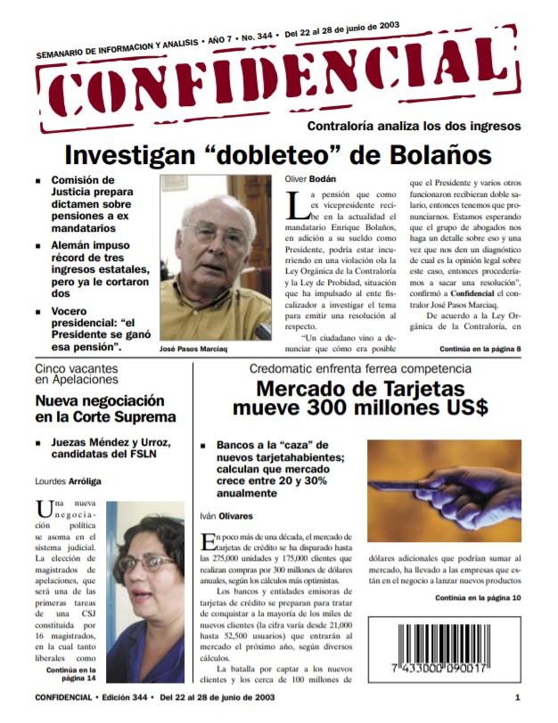 Investigan «dobleteo» de Enrique Bolaños