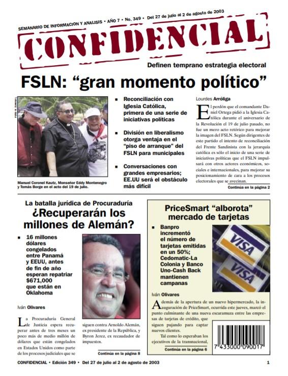 Reconciliación con Iglesia Católica, «gran momento político» para FSLN
