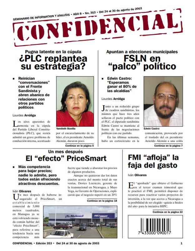 Frente Sandinista de Liberación Nacional en «palco» político