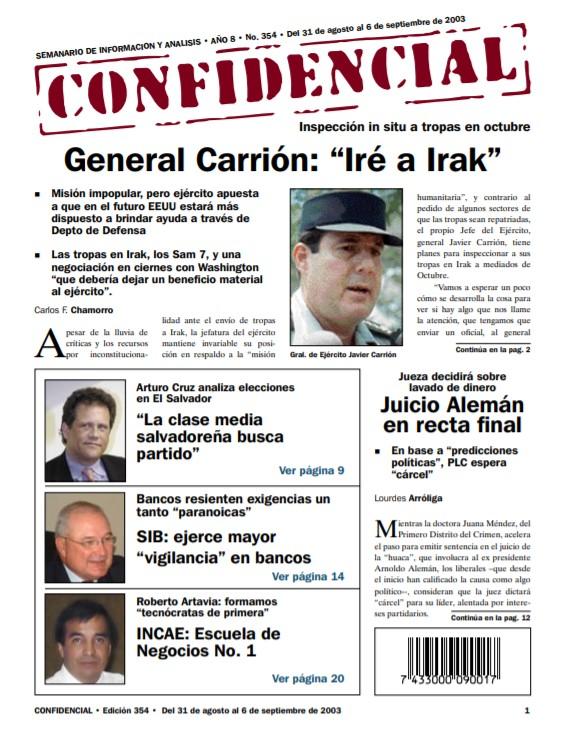 General Javier Carrión: «Iré a Irak»