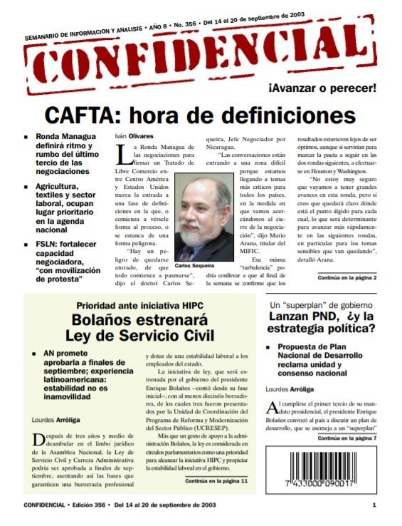 CAFTA: hora de definiciones para Nicaragua