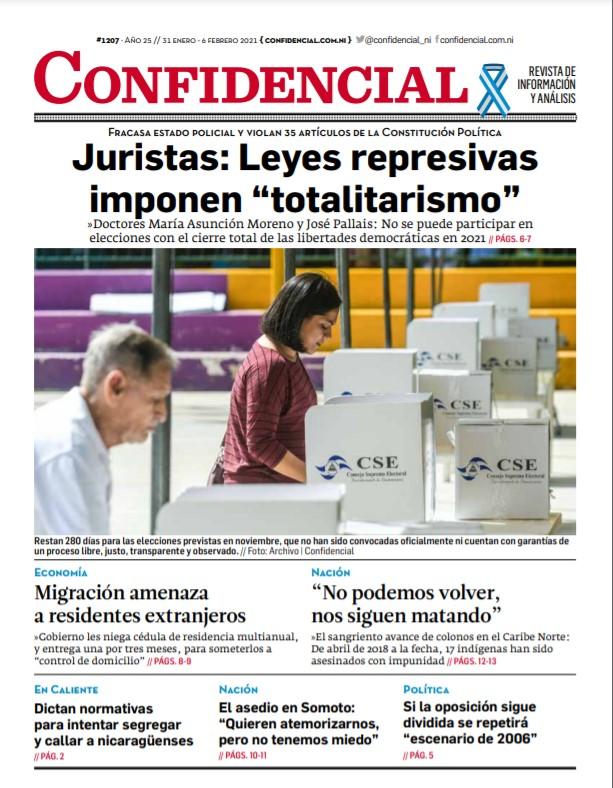 Juristas: Leyes represivas de Daniel Ortega «imponen totalitarismo»