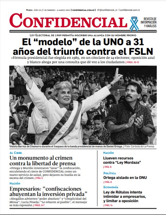 """El """"modelo"""" de la UNO a 31 años del triunfo contra el FSLN"""