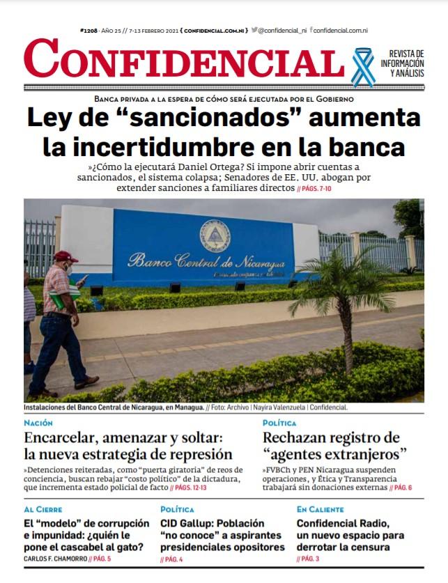 """Ley de """"sancionados"""" aumenta incertidumbre en la banca nicaragüense"""