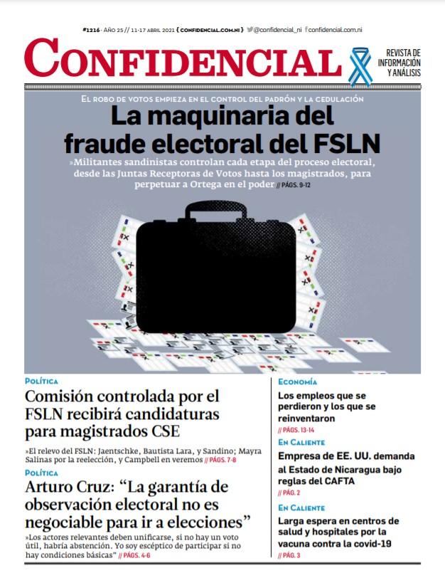 La maquinaria del fraude electoral del FSLN