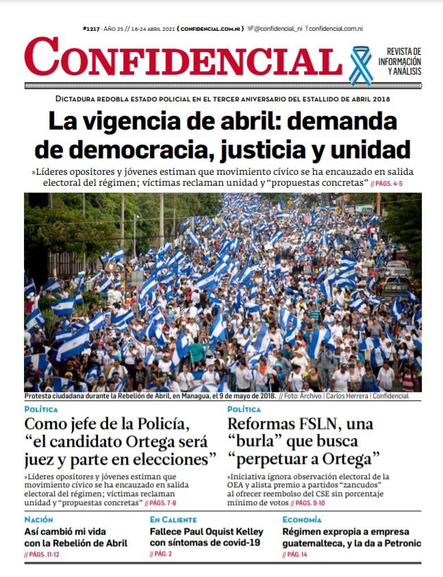 La vigencia de abril: demanda de democracia, justicia y unidad