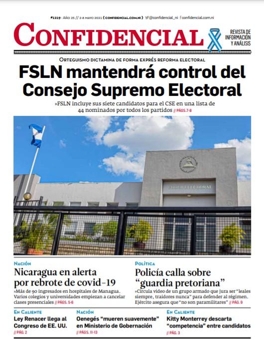 FSLN mantendrá control del Consejo Supremo Electoral