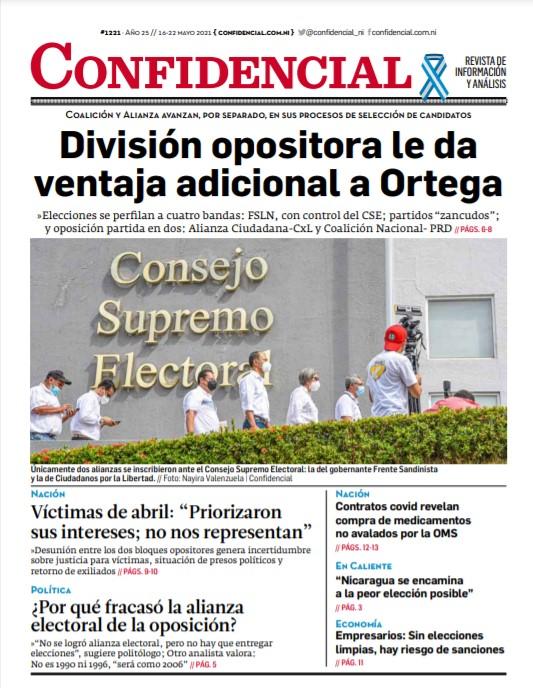 División opositora le da ventaja adicional a Ortega