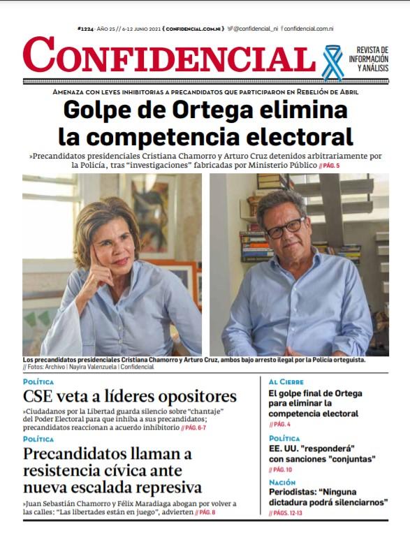 Golpe de Daniel Ortega elimina la competencia electoral