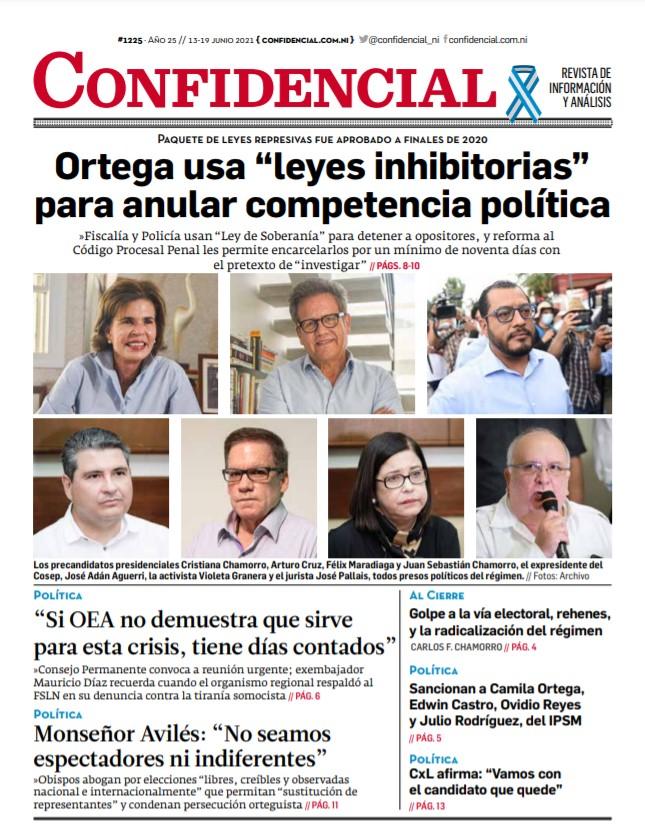 Daniel Ortega usa leyes inhibitorias para anular competencia política