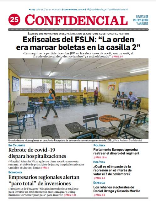 Exfiscales del FSLN: «La orden era marcar boletas en la casilla 2» en las elecciones