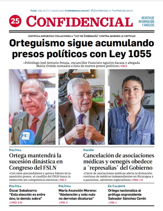 Orteguismo sigue acumulando presos políticos con Ley 1055