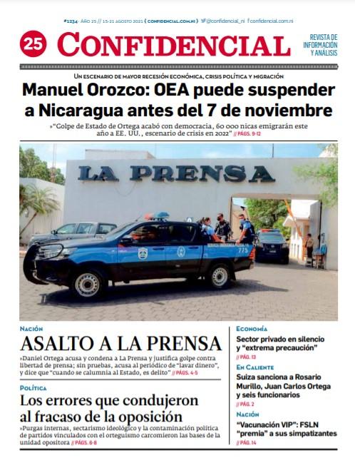 Manuel Orozco: OEA puede suspender a Nicaragua antes del 7 de noviembre