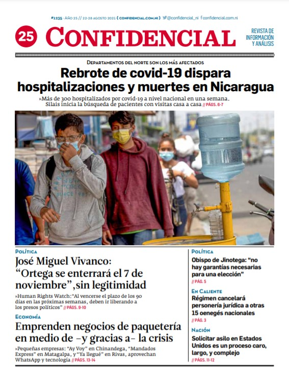 Rebrote de covid-19 dispara hospitalizaciones y muertes en Nicaragua