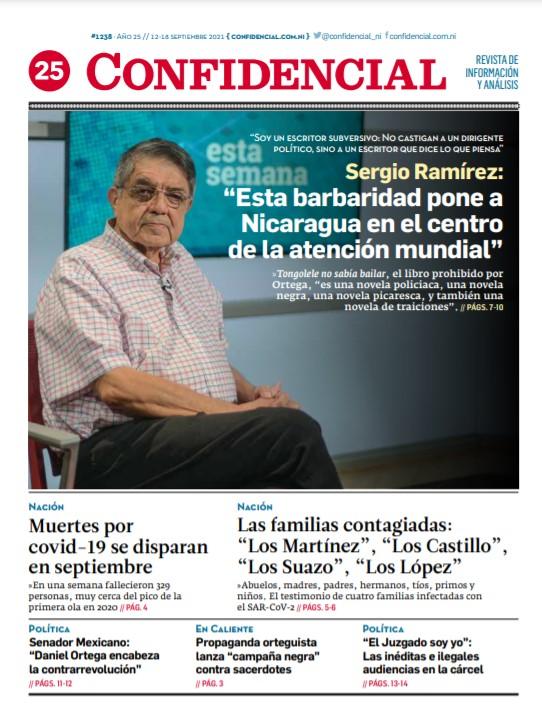 Sergio Ramírez: «Esta barbaridad pone a Nicaragua en el centro de la atención mundial»