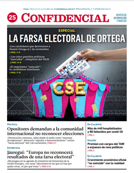 La farsa electoral de Daniel Ortega